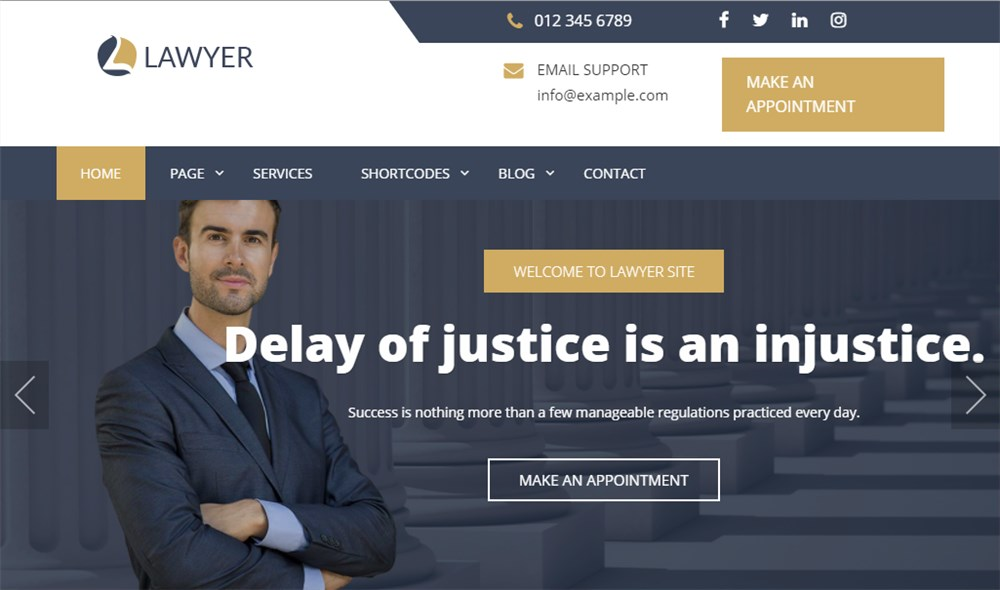 WordPress Expert Lawyer Theme for Lawyers