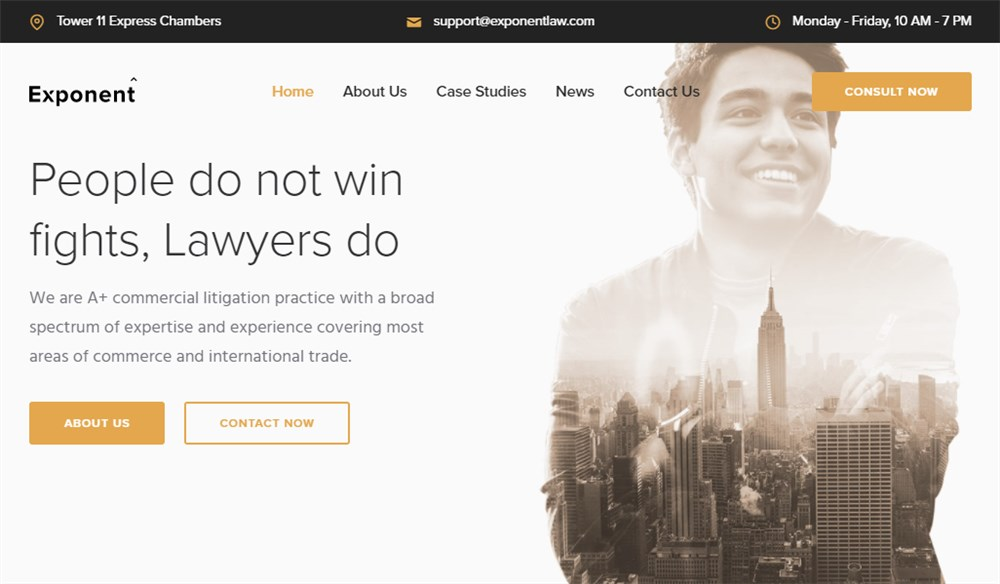 WP Exponent Lawyer Theme