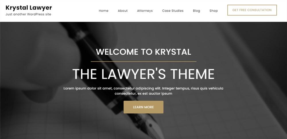 Krastal Lawyer Theme for Lawyers WP
