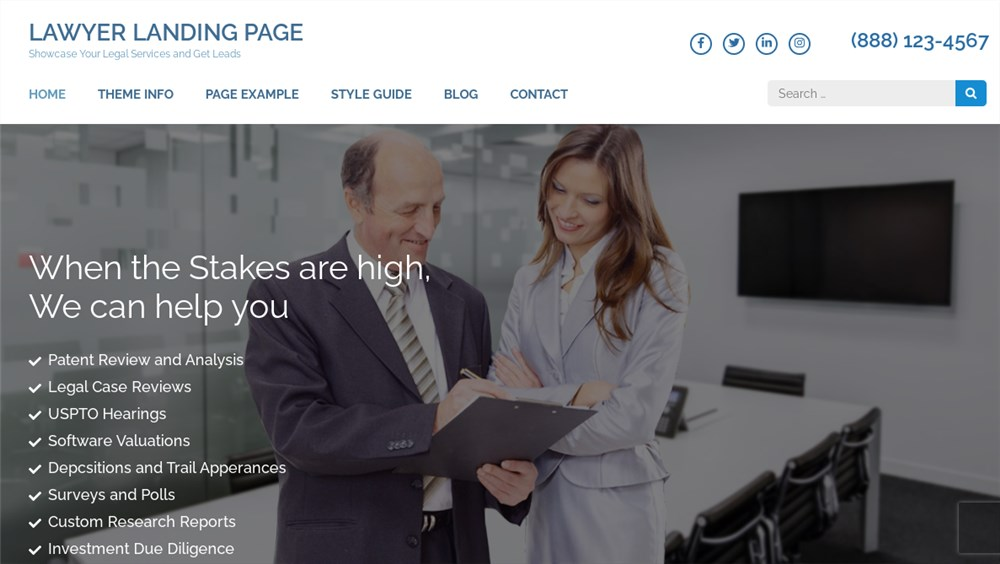Lawyer Landing Page Lawyer Themes for WP