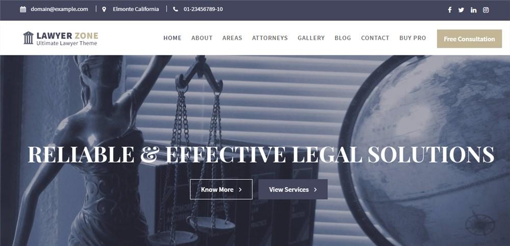 WP Lawyer Zone Lawyer Theme