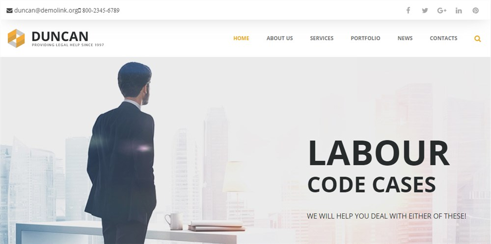 Lawyer WP Theme Monstroid