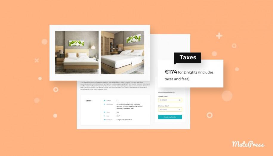 Taxes hotel booking
