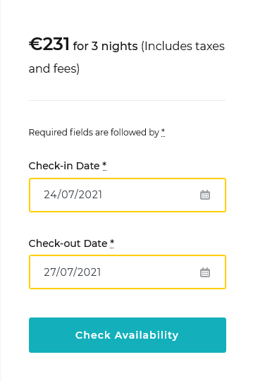 dates specified