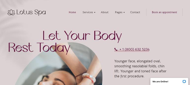 Lotus Spa Center WordPress template