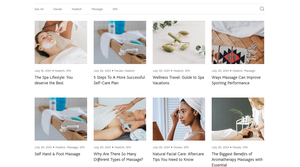 blog page lotus wordpress spa theme