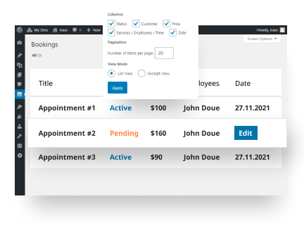 Easy Appointment Bookings Management