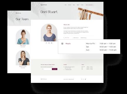 Team & Beauty Specialist Profiles