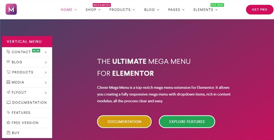 WP plugins menu Clever Mega Menu