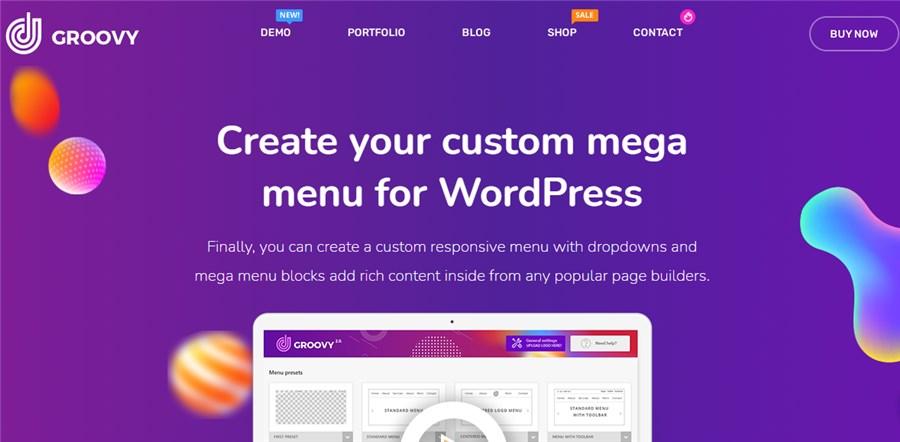 WordPress menu plugins Groove Mega Menu