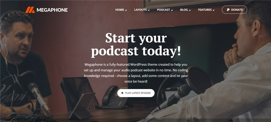 Megaphone Best Theme WordPress for Musicians