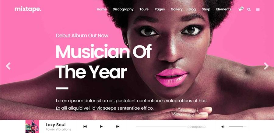 Mixtape Theme Best for Musicians for WordPress