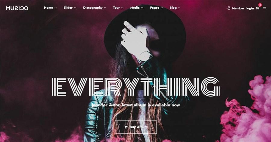Music WordPress Best Theme for Musicians
