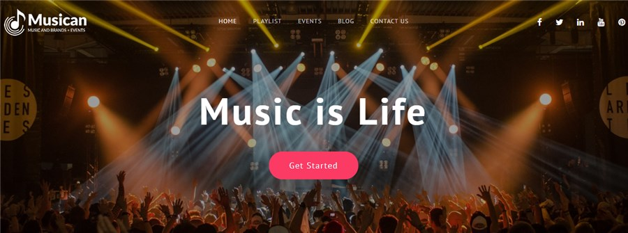 Best Theme for Musicians WP Musican