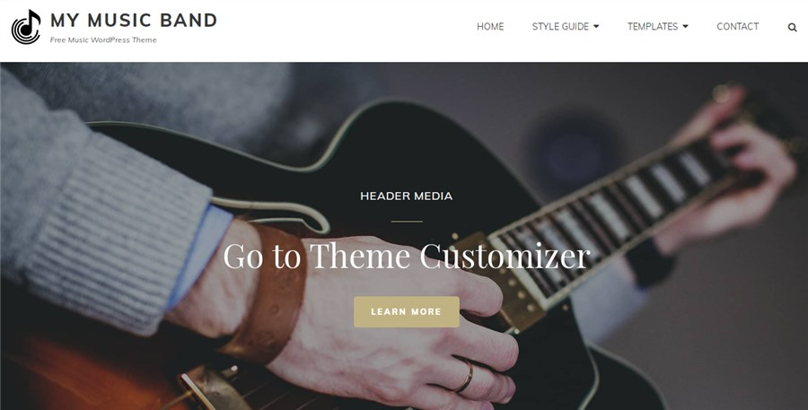 My Music Band Best Theme for Musicians for WordPress