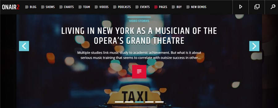 Onair2 Best WordPress Theme for Musicians