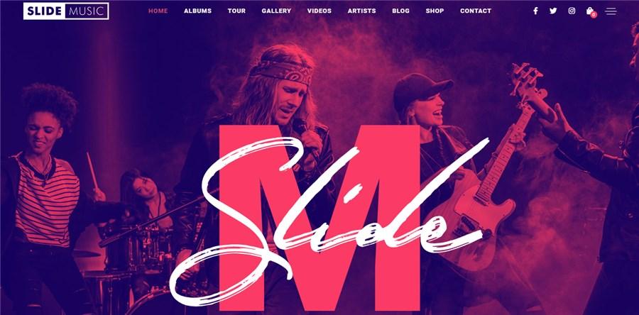 Slide Best WordPress Theme for Musicians
