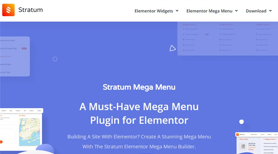 Stratum Mega Menu WordPress menu plugins