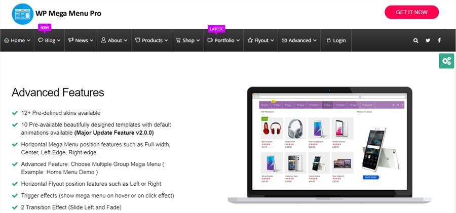 Menu plugins for WordPress WP Mega Menu