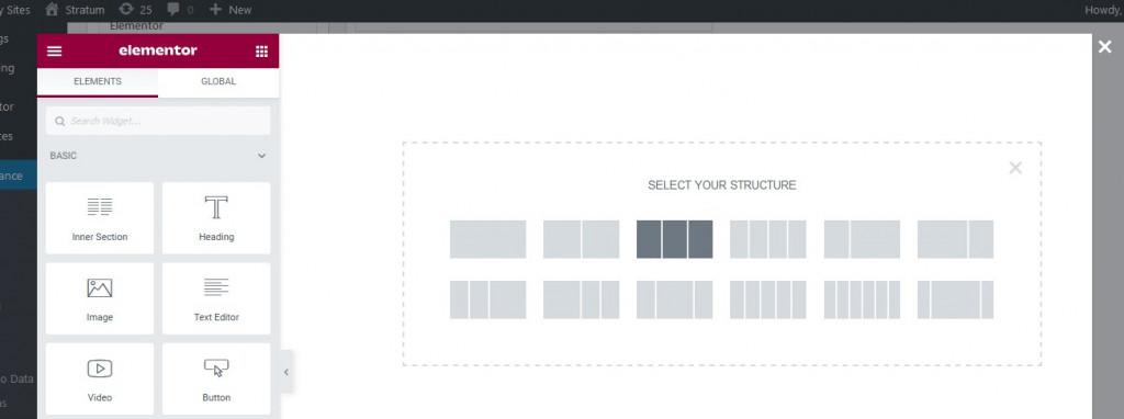 elementor layout mega menu