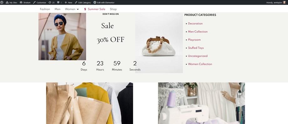global site menu