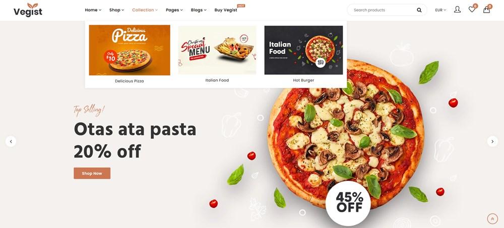 pizza mega menu