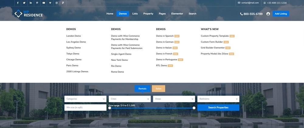 wordpress mega menu examples