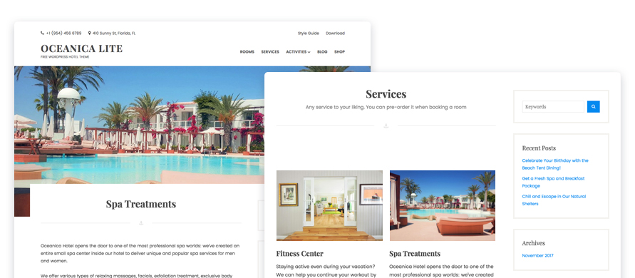 page templates oceanica lite