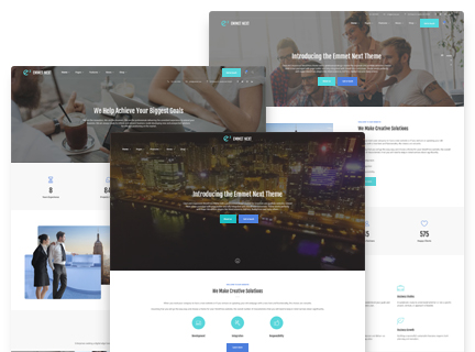 wordpress business theme menu locations