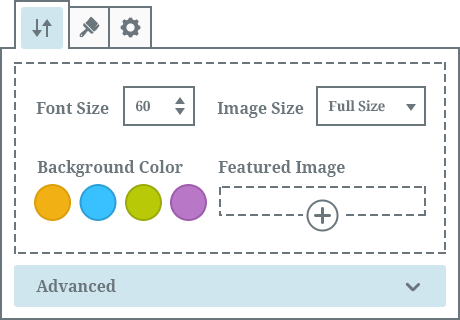 getwid extensive customization panels in wordpress blocks