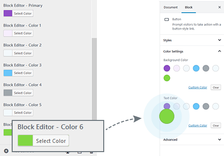 Set Custom Colors for the Editor Color Palette