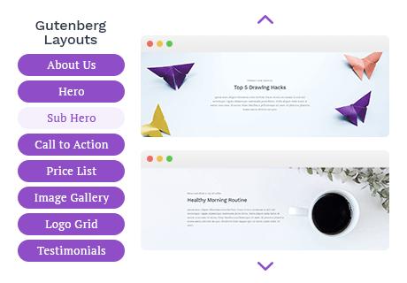 WordPress Gutenberg Design Library by Getwid