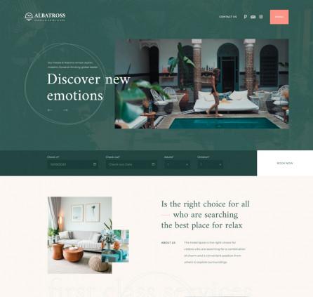 Free Hotel Elementor Theme